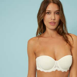 Trägerloser BH, Bandeau-Form spacer 3D - Naturel