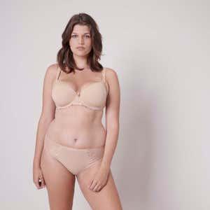 Culotte taille haute coton - Peau Rosée