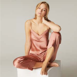 Silk trousers - Victoria Pink