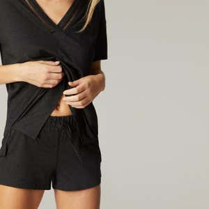 Night-short - Anthracite chiné