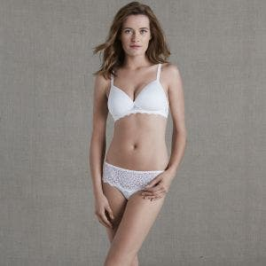 Soutien-gorge triangle sans-armatures en spacer 3D - Naturel