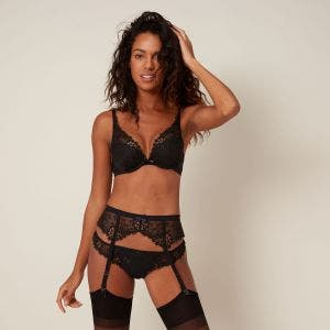 Suspender belt - Black