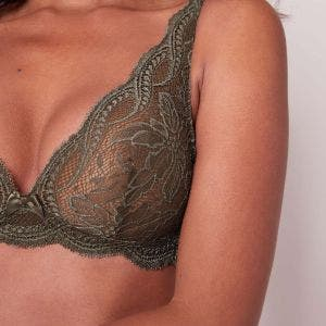 Soft cup triangle bra - Safari