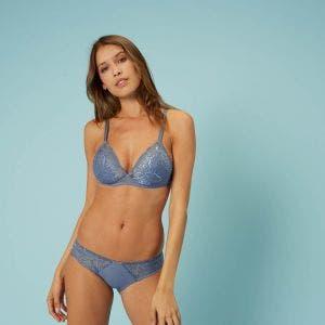 Soutien-gorge sans-armatures - Bleu platine