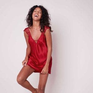Silk nightdress - Ruby