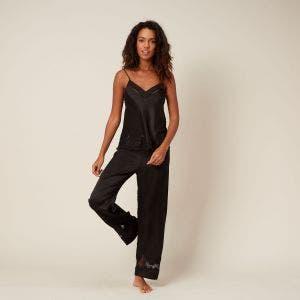 Pantalon en soie - Noir