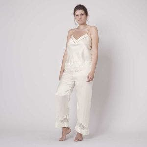 Silk trousers - Natural