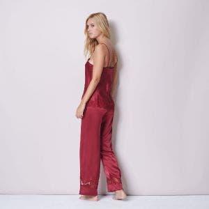 Silk trousers - Burgundy
