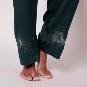 Silk trousers - Peacock