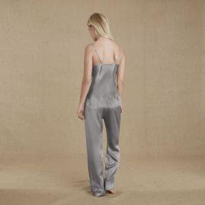 Silk trousers - Cloud
