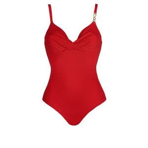 1 pièce de bain avec armatures - Rouge