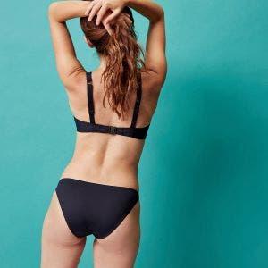 Haut de maillot de bain triangle avec armatures - Noir