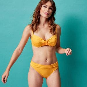 Bikini-Slip mit hohem Bund - Soleil