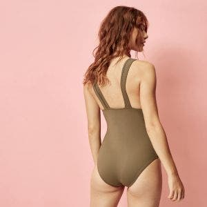Wireless one-piece swimsuit - Olive