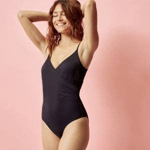 Non-wired, padded one-piece swimsuit - Black