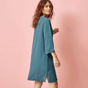 Tunique manches longues - Bleu paon