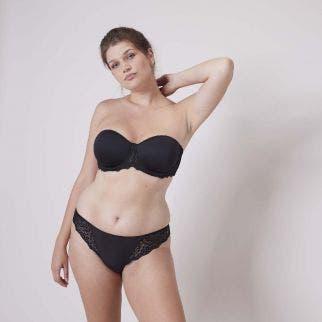 Non padded strapless bra, Spacer 3D - Black