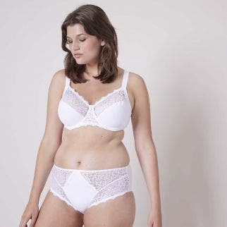 Full cup support bra - White