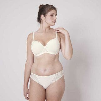 Padded half cup bra - Natural
