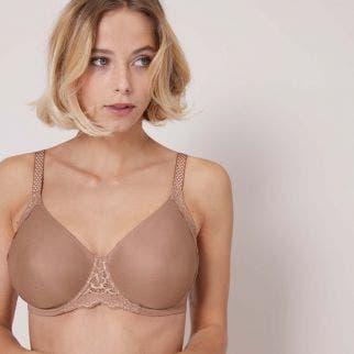 Rigid moulded bra - Preppy Nude