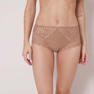 High-waist brief - Preppy Nude