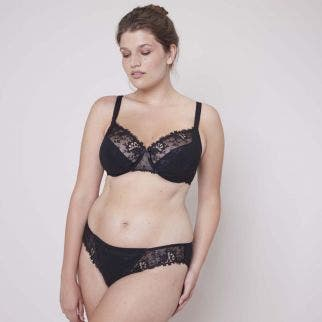 Tulip full cup bra - Black