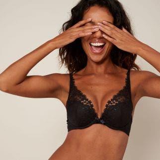 Triangle push-up bra - Black