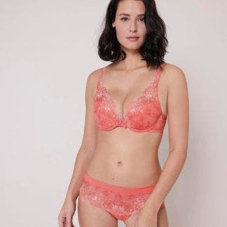 Soutien-gorge push-up triangle - Corail