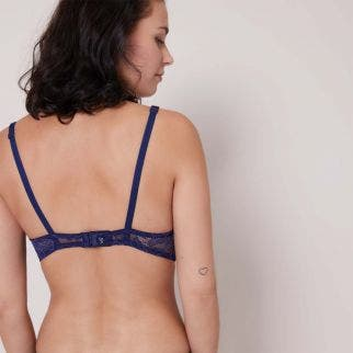 Soft cup triangle bra - Navy