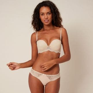 Smooth strapless plunge bra - Peau Rose