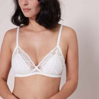 Soft cup bra - Natural
