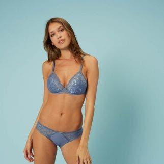 Soft cup bra - Platinum blue