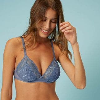 Soft cup bra - Platinum blue