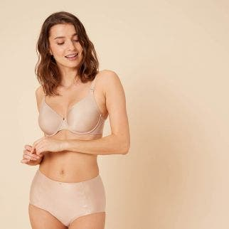 Seamless moulded multi-position bra - Nude