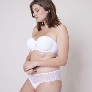 Strapless bra - White