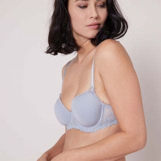 Padded half cup bra - Cloud