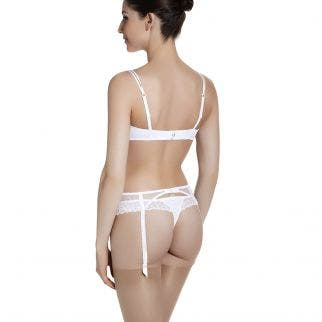 Push-up with racerback bra - White