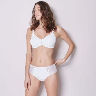 Rigid moulded bra - White