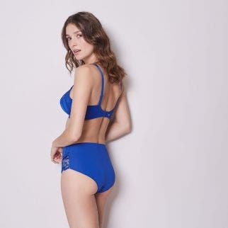 Full cup support bra - Blue