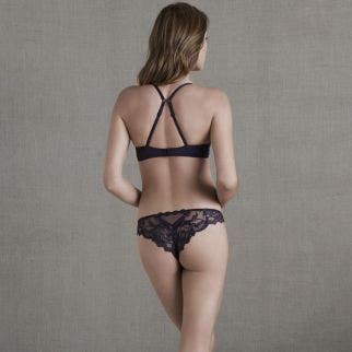 Soutien-gorge push-up plongeant - Anthracite
