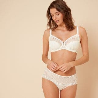 Full cup support bra - Natural