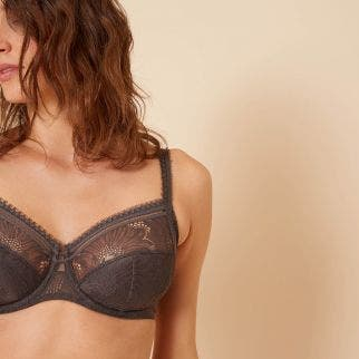 Full cup support bra - Smoky