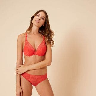 Triangle push-up bra - Flamingo