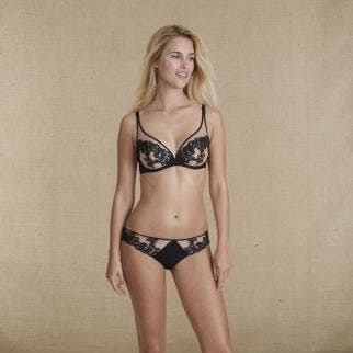Full cup bra - Black / skin