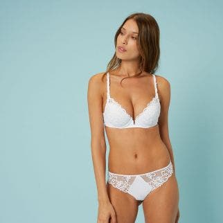 Push-up bra - White