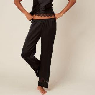 Silk trousers - Black