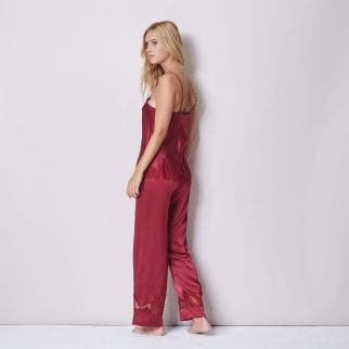 Silk trousers - Wine