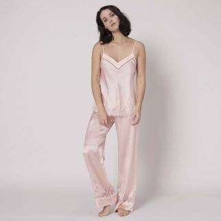 Silk trousers - Blush
