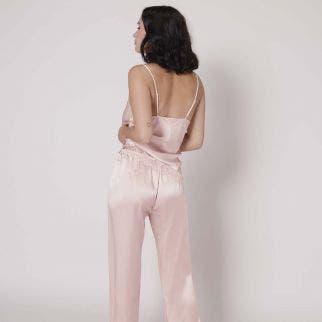 Pantalon en soie - Poudre