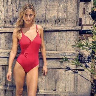 Wireless, padded one-piece - Rose